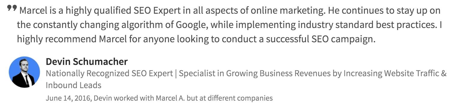 seo web development testimonial 2